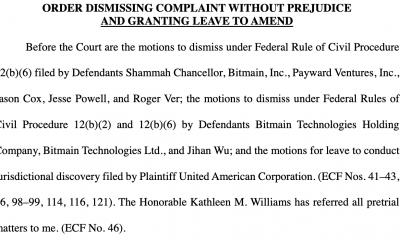 Bitmain, demanda dirigida contra Kraken desestimada por el Tribunal de Distrito de los Estados Unidos