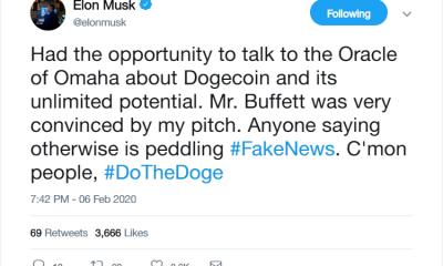 Justin Sun de Tron pierde el apetito cuando Elon Musk & # 039; dogecoins & # 039; Warren Buffett