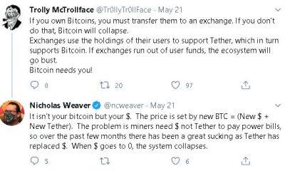 El ascenso de Tether podría amenazar a Bitcoin, Ethereum