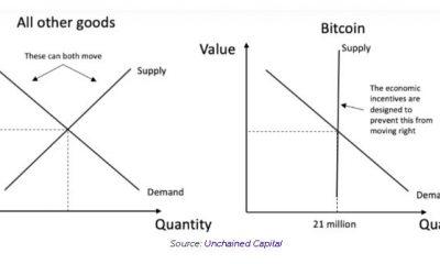 La rígida curva de oferta y demanda de Bitcoin sigue diferentes conceptos básicos del mercado