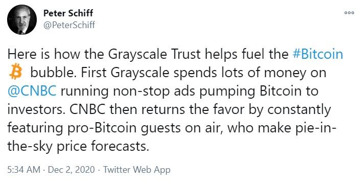 Grayscale tiene $ 19 mil millones en Bitcoin, Ethereum y otros AUM criptográficos